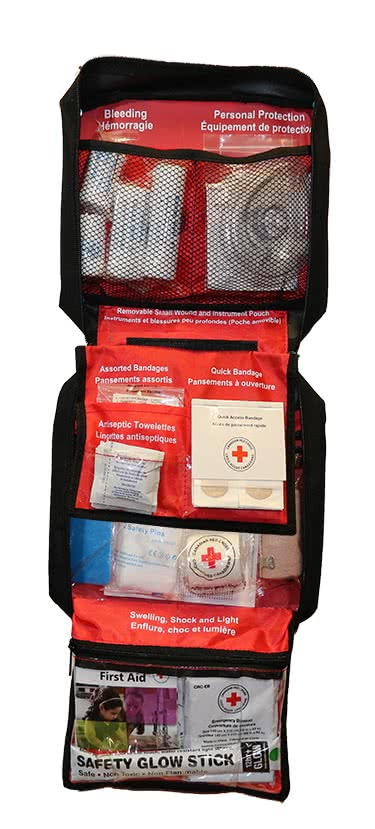 Standard First Aid kit open