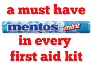 mentos is a great treatment for  low blood sugar a must for every first aid kit