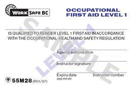 Occupational First Aid Level 1 Certificate