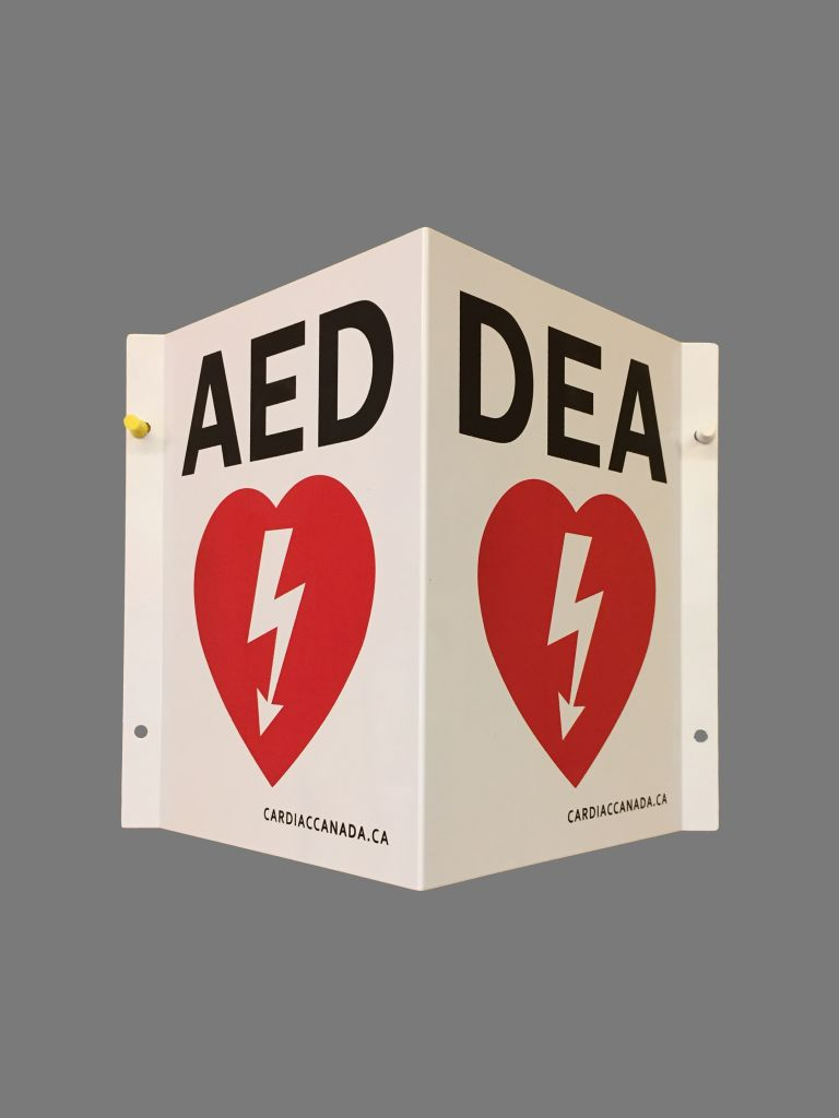 AED 3 Dimensional Wall Sign image