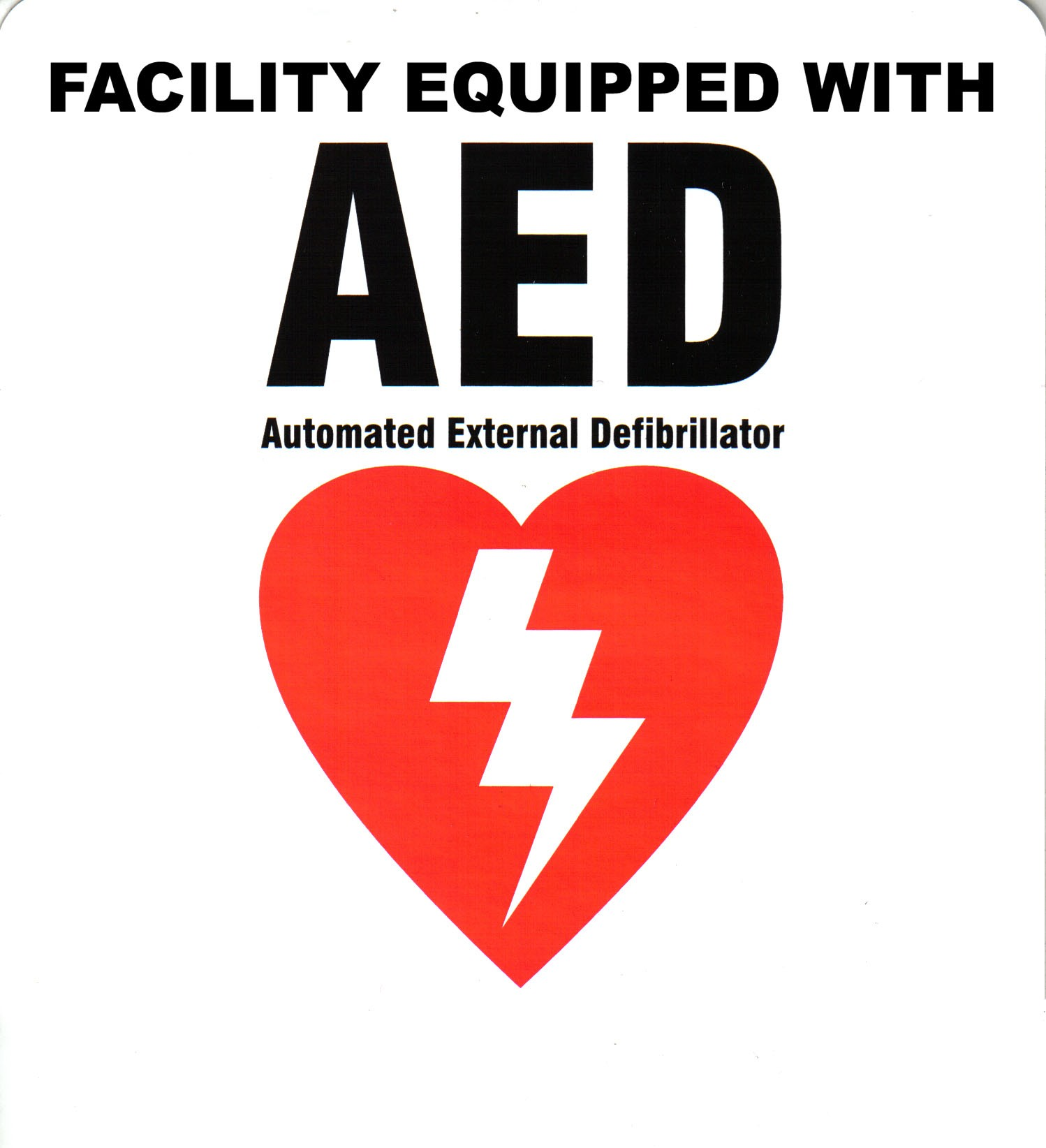 AED Interior Window Decal image