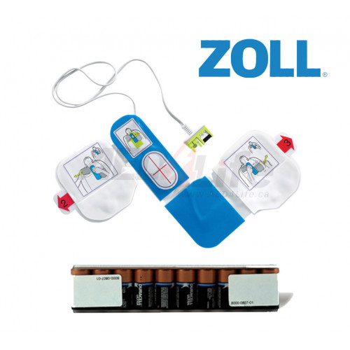 Zoll AED Refill package with batteries and pads image