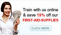 Train with us online & save 15% off our First-Aid-Supplies