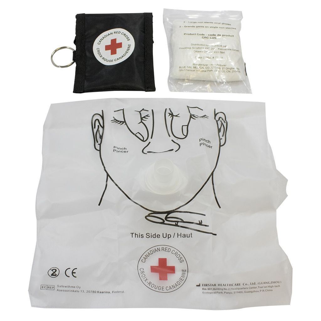 Canadian Red Cross CPR Key Chain Mask and Gloves - image