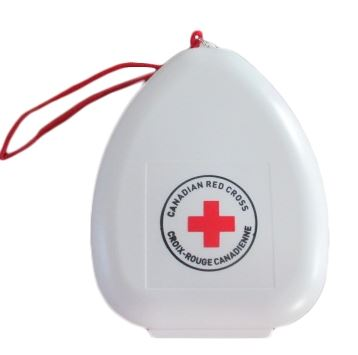 Canadian Red Cross CPR Mask with O2 Inlet in Clams image