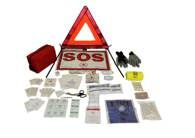 CANADIAN RED CROSS ROADSIDE FIRST AID KIT AND SAFE image