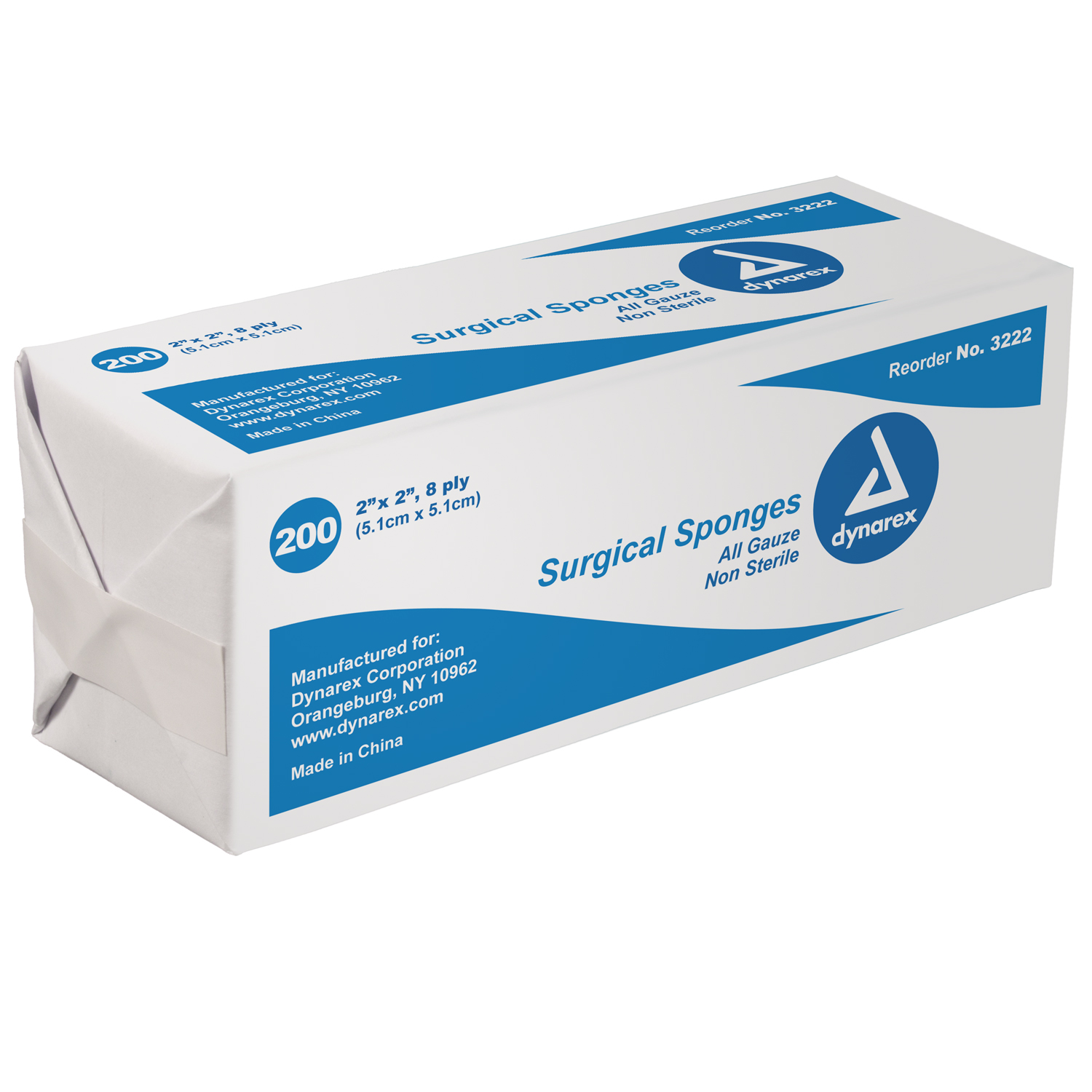 2x2 Non Sterile Gauze: Bag of 200 image