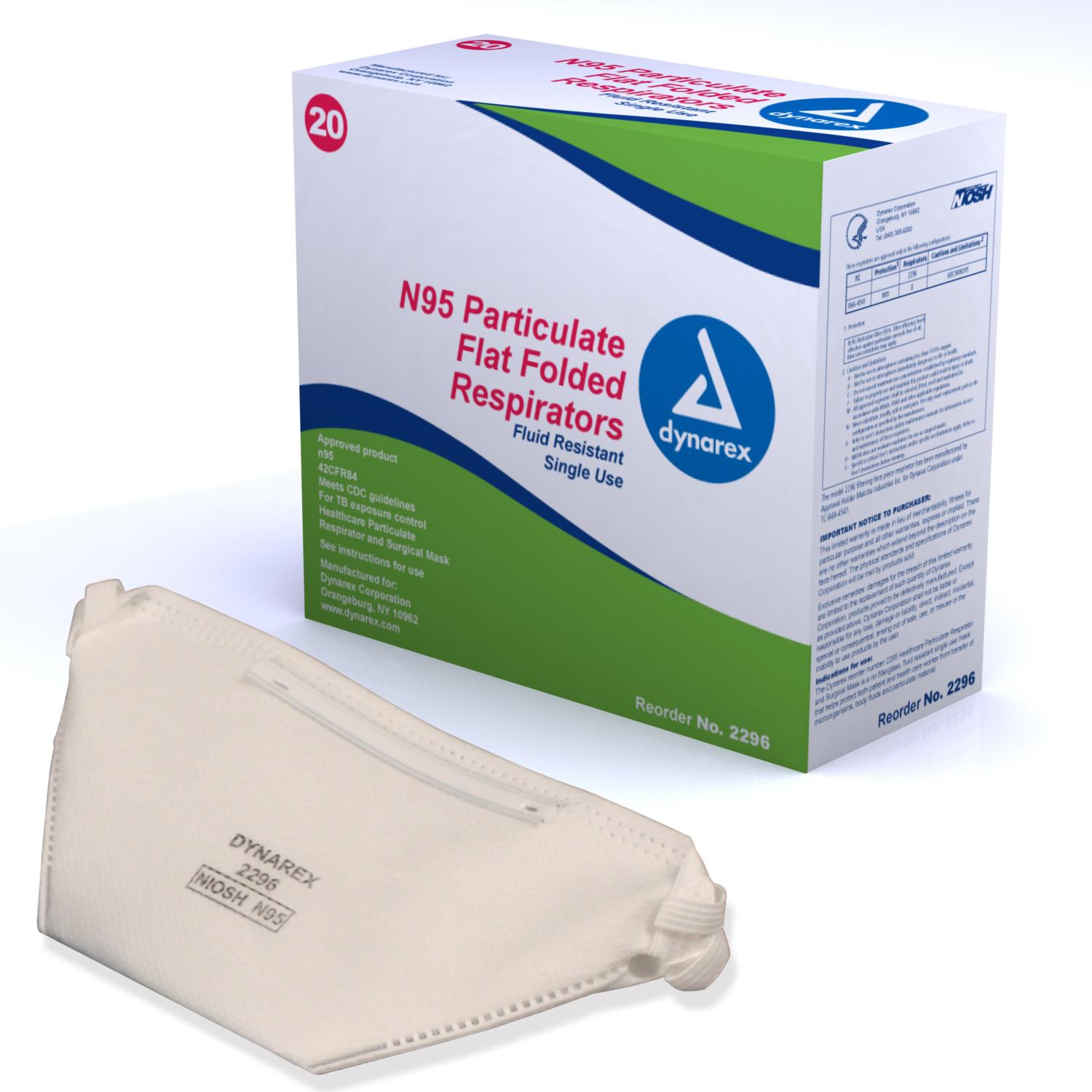 N95 Flat Folded Respirator: Box of 20 image