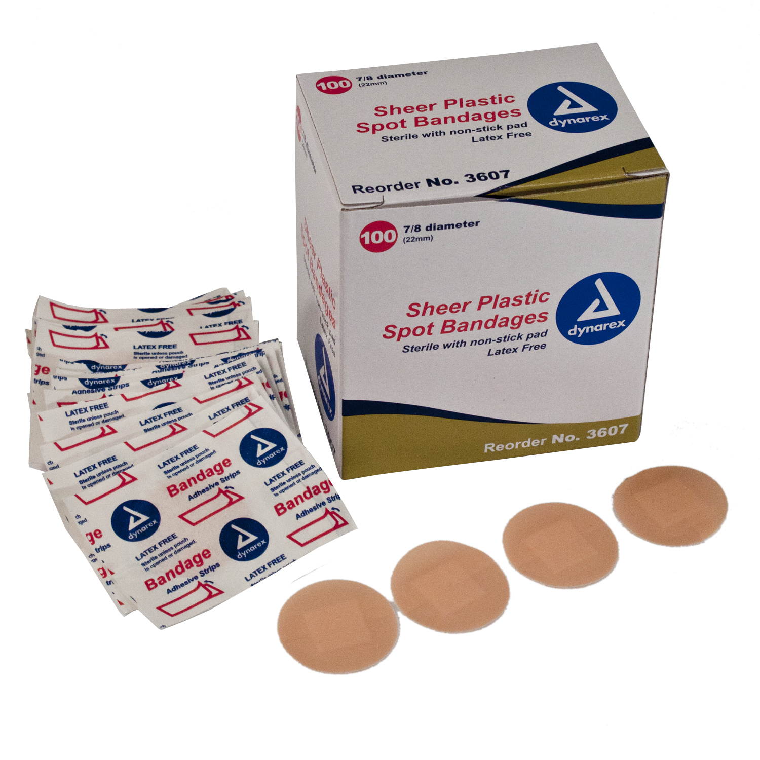 Sheer Plastic Spot Bandages (Box of 100) image