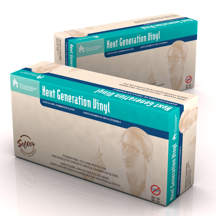 Vinyl Exam Gloves: Case of 10 Boxes image