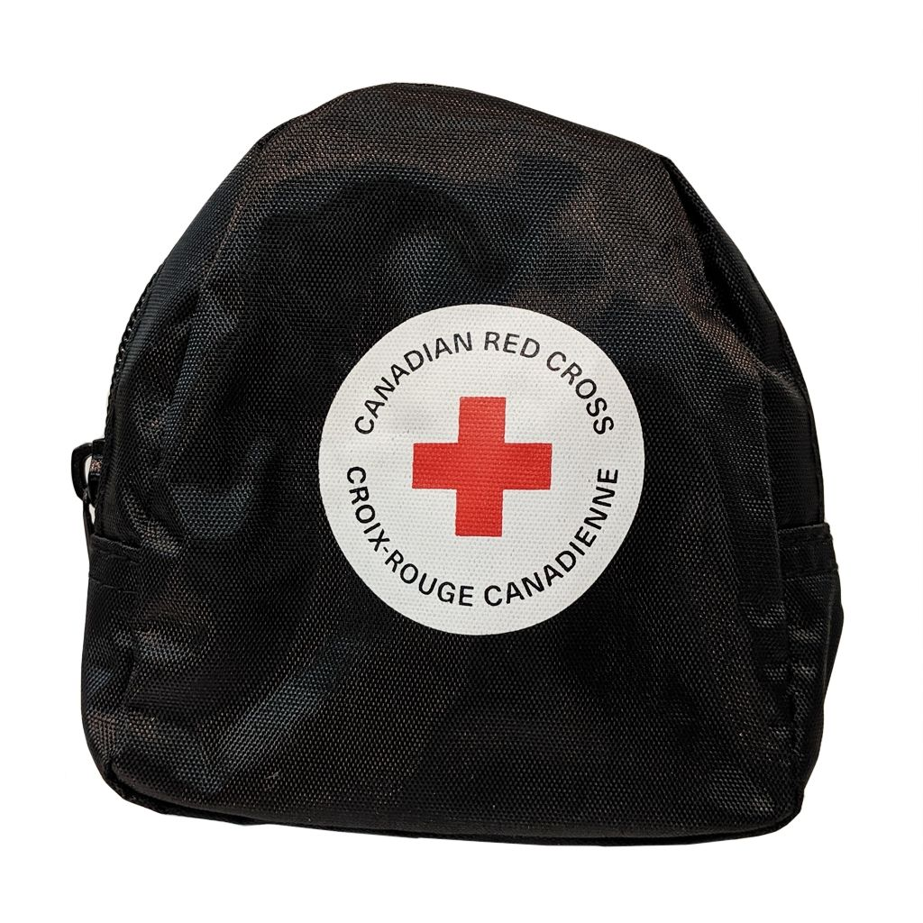 CPR Mask with O2 Inlet and Nitrile Gloves, Black image