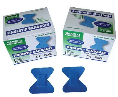 Blue Food Prep Fingertip Bandage (Box of 40) image