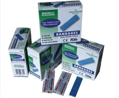 1x3 Blue Cloth Strip Bandage: Box of 50  image